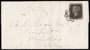 SG2-1841-1d-Black-plate-10-AH-on-cover-Kington-Herefordshire-to-Ludlow