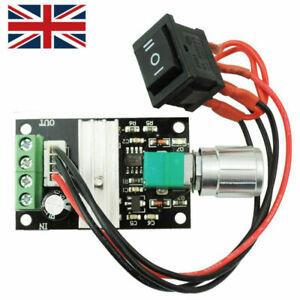 Mini DC Motor Speed Control Driver Board 6v-28v 3a PWM Controller Knob Switch UK