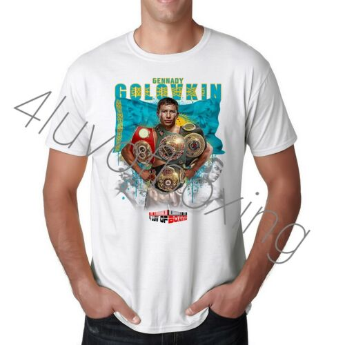 Gennady GGG Golovkin T Shirt Apparel New 4LUVofBOXING Boxing tee WH Triple G