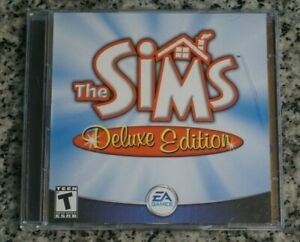 The Sims: Deluxe Edition PC EA Games Jewel Case W/ Code Tested Cleaned Free Ship