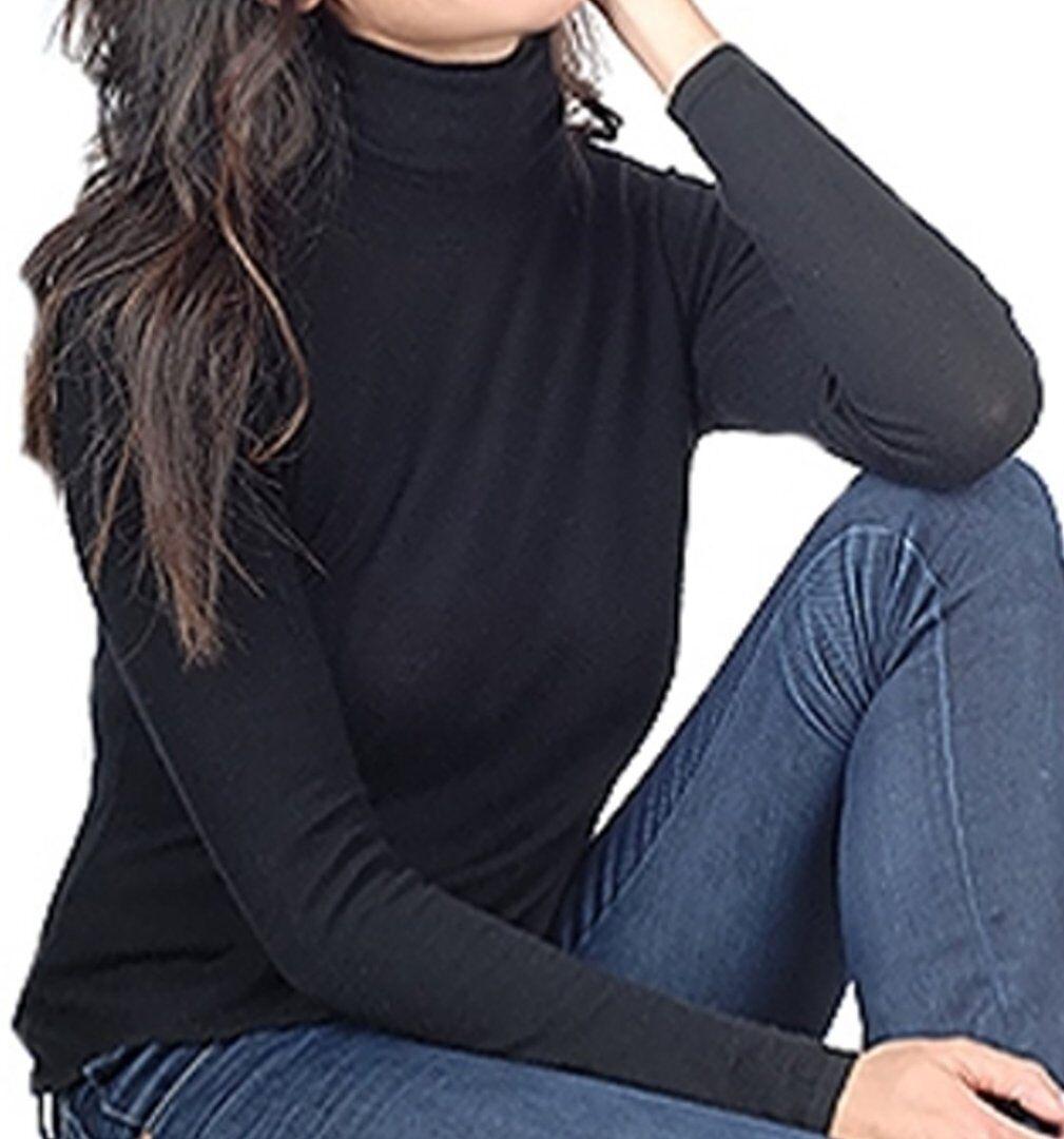Balldiri 100% Cashmere Duvet Damen Rollkragen 2-fädig schwarz XS