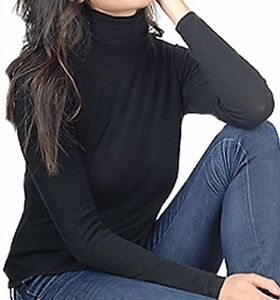 Duvet Cashmere Women bicolore Dolcevita 100 Xs Balldiri nero HqZnpv