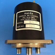 Narda SEM133 RF Coaxial Switch, DC-18 GHz