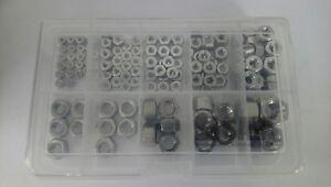 Sechskantmutte<wbr/>rnsortiment 150 Teile UNC Zollgewinde Zollmuttern Edelstahl