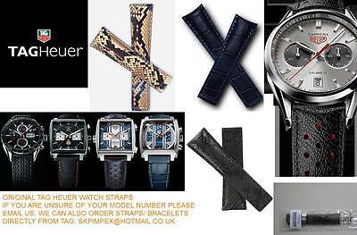 SchöN Tag Heuer Leather Python F1 Aquaracer Monza Monaco Carrera Watch Bracelet Strap Dauerhafte Modellierung
