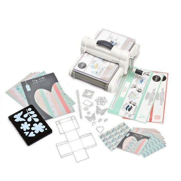 Sizzix Big Shot Plus Starter Kit UK with My Life Handmade Cardstock & Fabric