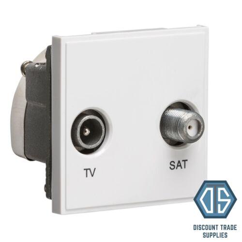 White Euro Data Module Inserts HDMI TV Satellite Cat5 Cat6 Quad Multimedia USB