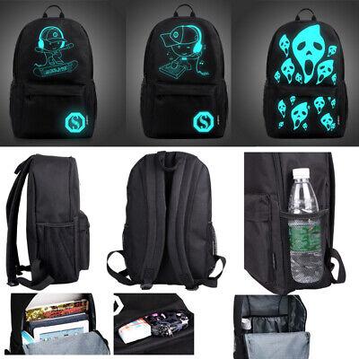 Night Luminous Backpack Boys Girls USB Charging Bookbag School Bag Shoulder Bags