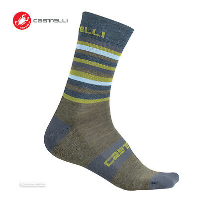 Castelli WOOL TRANSITION 12 cm Mid-Weight Bicycling Socks BLACK One Pair
