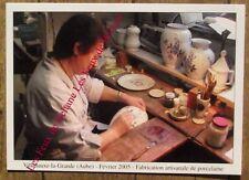 Carte postale Villenauxe la Grande,Giberot,porcelaine,faience,500ex,.CPSM