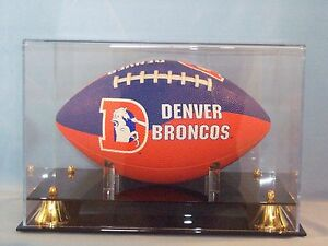 Football Display Case Acrylic Full Size With Solid Black Acrylic Base Autographs-original