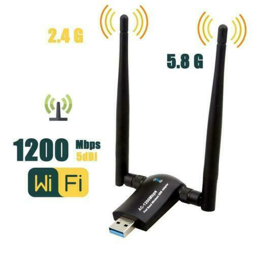 1200Mbps Range AC1200 Dual Band 5GHz Wireless USB 3.0 WiFi Adapter Antennas