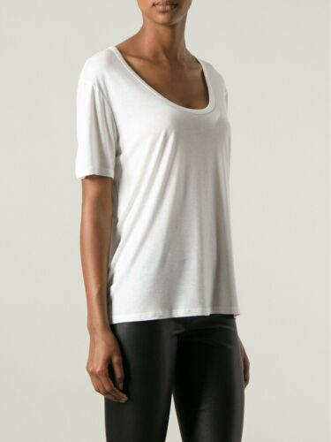 Collo Bianco Row T Nuovo Aperto L Dani Shirt Maglietta The Xs Viscosa Maglia M wqH4nxqp
