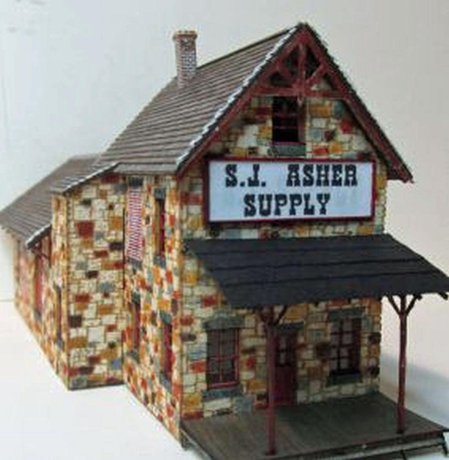 S.J. ASHER SUPPLY N Scale Model Railroad Structure Unptd Wood Laser Kit RSL3062