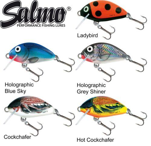 5 Salmo Tiny Wobbler 3cm 2g sinkend Kunstköder zum Spinnfischen auf Barsch