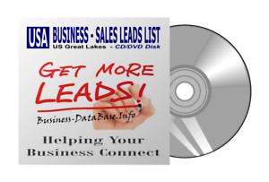 US Business DataBase Sales Leads List USA Great Lakes Region Telemarketing List