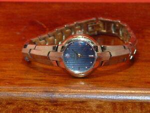 Pre-Owned-Women-s-Bulova-Gold-Tone-Diamond-Accent-Dress-Watch