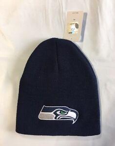 8d43577bee5 Seattle Seahawks Knit Beanie Winter Hat Toque Skull Cap New - Blue ...