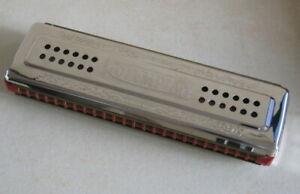 "VTG German ""OLYMPIA"" harmonica double sided keys ""C"" & ""G"" harp VG++"