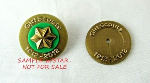3-NEW 1912-2012 100th Anniversary Girl Scout MEMBER STAR DISCS x 3 Combine Ship