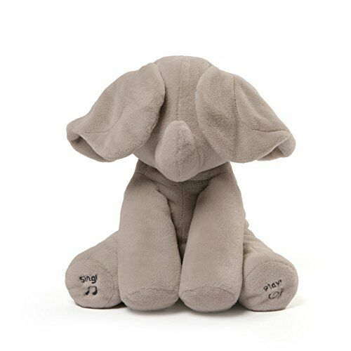 Gund Baby Animated Flappy The Elephant Christmas Gift Singing Soft Plush Toy NEW