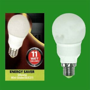 E27 Edison Screw Lamps 2x 11W Low Energy Power Saving CFL Candle Light Bulbs ES