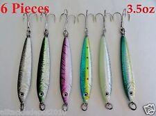 6 Pieces 3.5 oz Mega Live Bait Metal Jigs 6 Colors Saltwater Fishing Lures