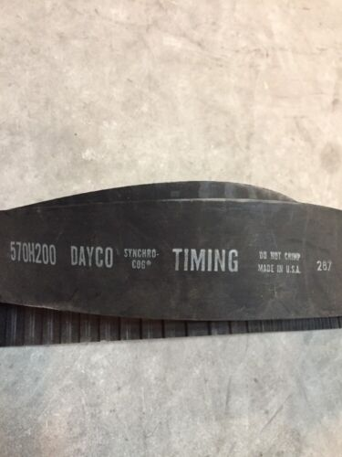 570H200 50mm Width Dayco Synchro Cog TIMING BELT