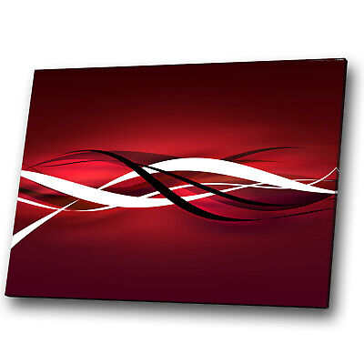 ZAB403 Red Black White Cool Modern Canvas Abstract Home Wall Art Picture Prints