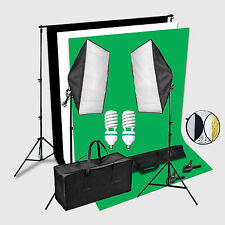 CLKIT2 2x150W Softbox Portraint Professional Photo Studio continuous lighting 2x