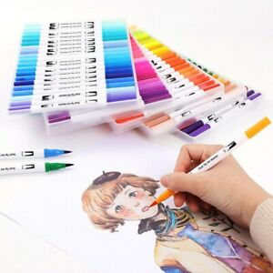 36-48-100-Colours-Brush-Pen-Watercolor-Art-Drawing-Painting-Artist-Manga-Marker