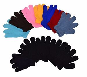 Kids-Magic-Gloves-Children-Knit-Gloves-Toddlers-12-Pairs-1-to-6-years-NEW-YORK