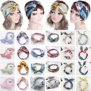 Femme-Bandeau-Turban-Headband-Cheveux-Serre-tete-Yoga-Extensible-Accessoires