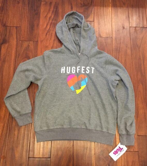 Dreamworks Trolls Girls Sweatshirt Size M Hugfest Gray NWT
