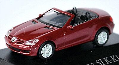 Spirited Mercedes Benz Slk R171-2004-08 Amber-red Red Metallic 1:87 Herpa Toys, Hobbies