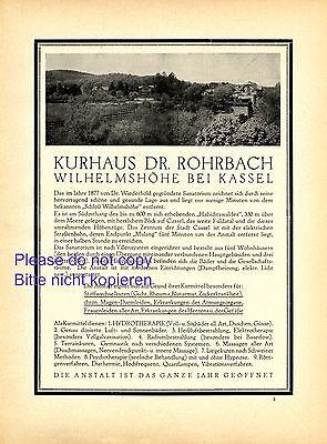Merchandise & Memorabilia Regular Tea Drinking Improves Your Health Advertising-print Lovely Cure Treatment House Rohrbach Xl 1922 German Ad Wilhelmshohe Kassel Advert