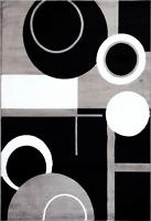 1010 Grey Abstract Area Rug