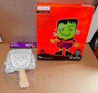 Halloween Foam Activity Kit & Paper Stick Puppets Creatology4+10x8 Monster 40a