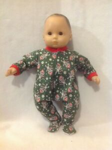 """15/"""" Bitty Baby Blue foxes Boy girl sleeper pajamas pjs twins Doll Clothes outfit"""