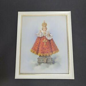 Vintage-Infant-of-Prague-Framed-Print-Wall-Art-Decor-Jesus-Catholic-Religious