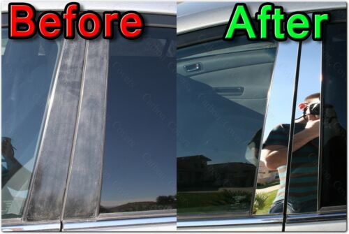 CHROME Pillar Posts for Mitsubishi Lancer 02-07 6pc Set Door Cover Mirrored Trim