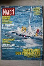 PARIS MATCH N°1562 (4/5/1979) Le naufrage des catamarans - M. Sardou -M. Monroe