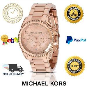 d80e4acb44ae NEW MICHEAL KORS MK5263 BLAIR ROSE GOLD PARKER CHRONOGRAPH WOMEN S ...