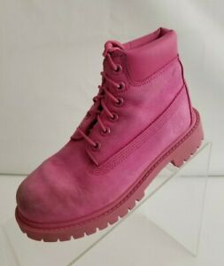 Details zu Timberland Little Kids Girls Pink Boots Waterproof Pink Leather Lace Up Size 13