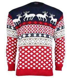 Sueter-Retro-Novedad-Navidad-Navidad-Unisex-Jumper-tamano-de-las-Senoras-de-Hombre-Nuevo