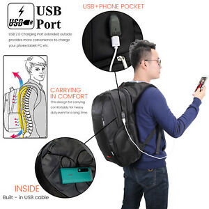 Anti-theft-Notebook-Backpack-with-USB-Port-Bag-for-laptop-15-6-034-17-3-034-US-Seller