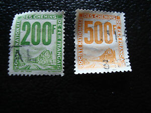 FRANCE-timbre-yvert-et-tellier-colis-postaux-n-24-25-obl-A14-stamp-french-A