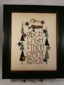 Vintage-Aidaworks-Texas-034-Winter-034-Cross-Stitch-Alphabet-Sampler-Framed