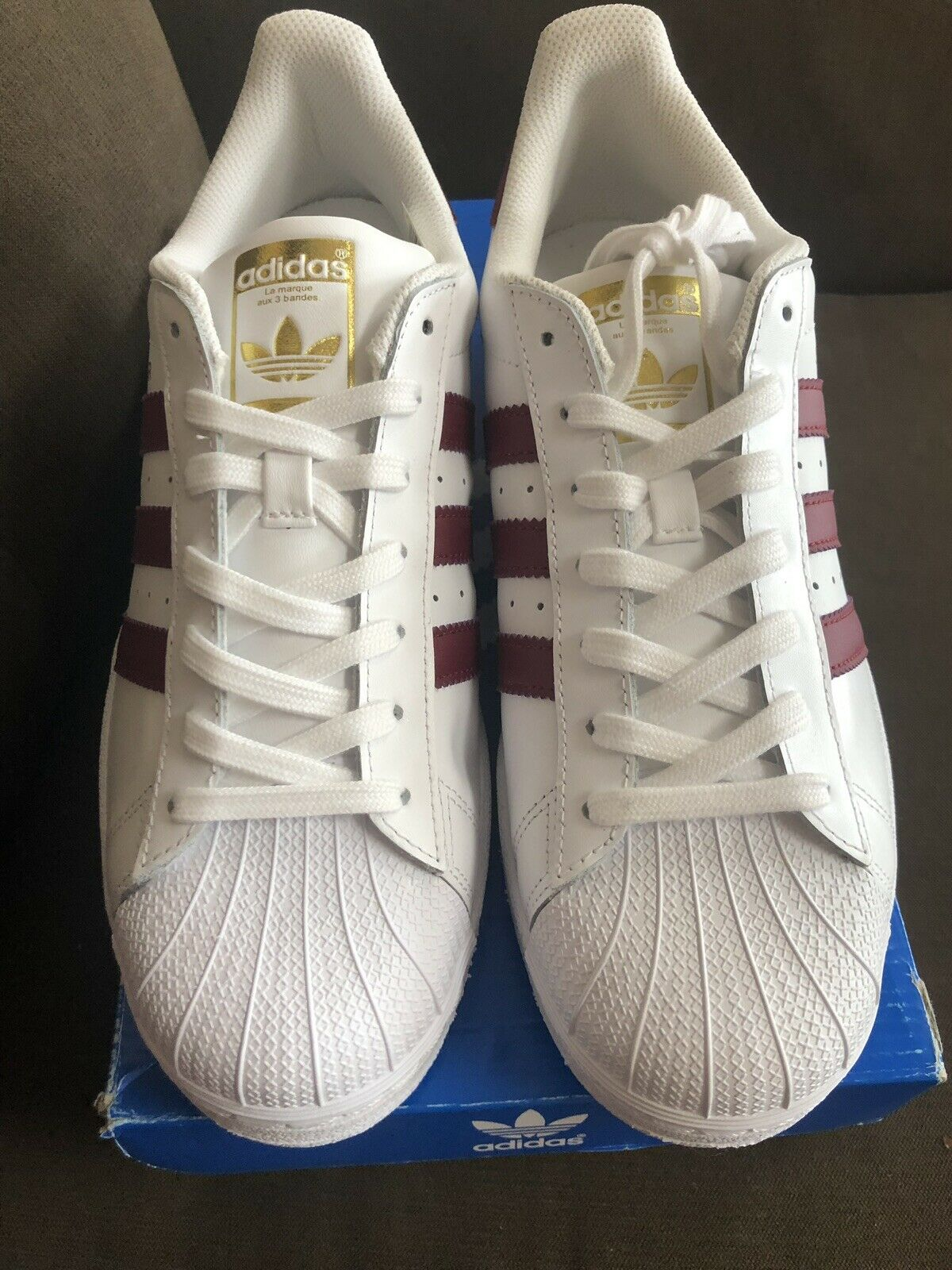 Adidas Men's Superstar Foundation Sneakers  BY3713 Size 9