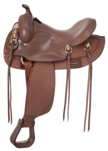 environ 38.10 cm 15 IN gaited Cheval Western Trail Selle-Marron-Cuir Synthétique ronde jupe